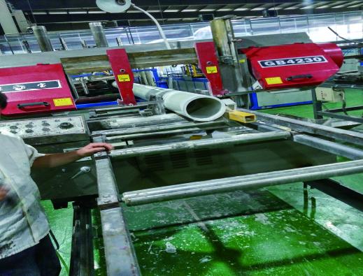 切割玻璃钢产品